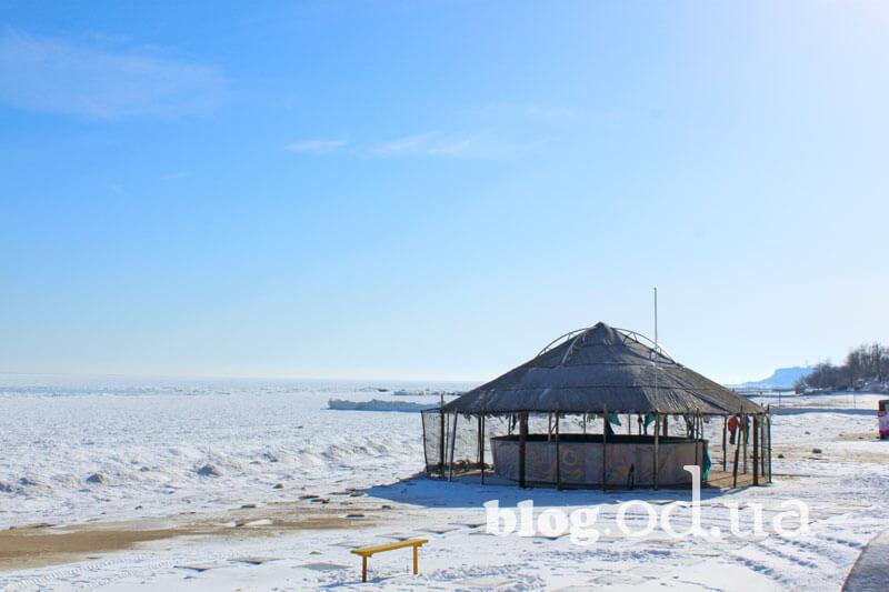 Одеський пляж в льодові