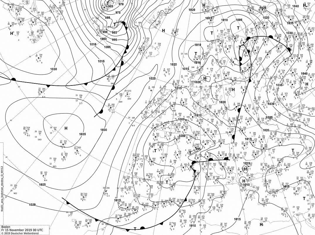 фактическая карта погоды 15.11.2019
