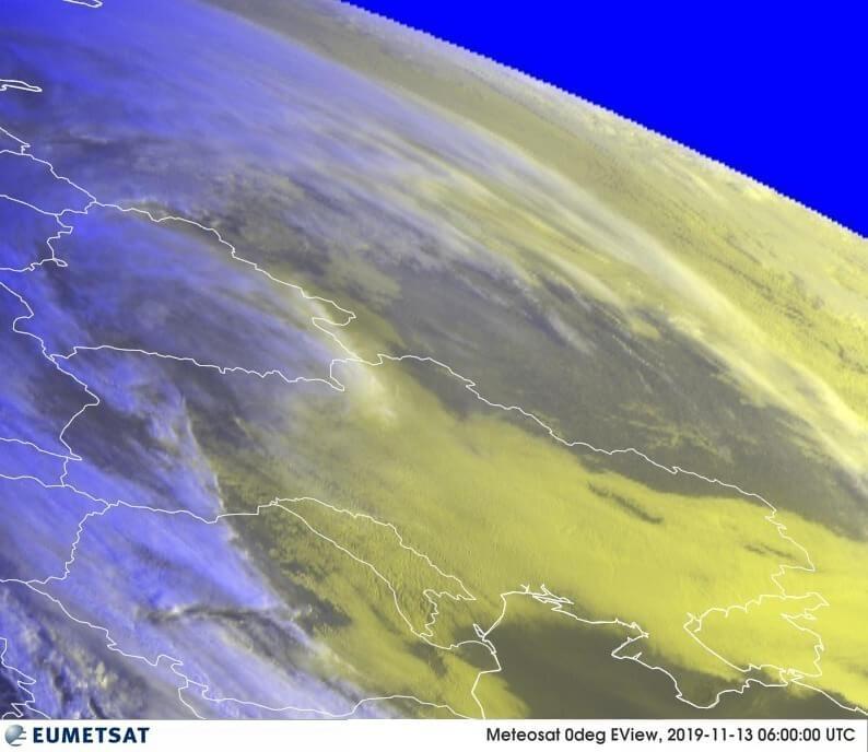 Спутниковый снимок облачности 13.11.2019